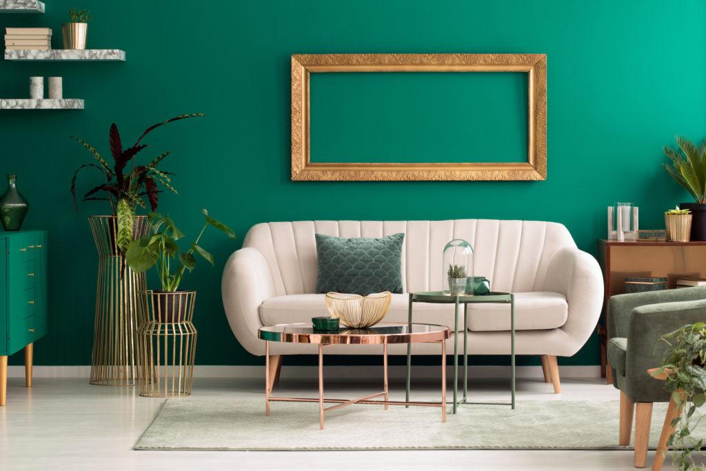 Groen interieur
